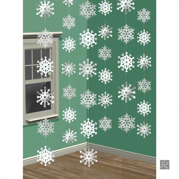 Новогодняя гирлянда на окно или в дверной проем
