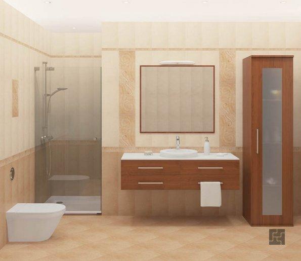 диагональная раскладка в ванной