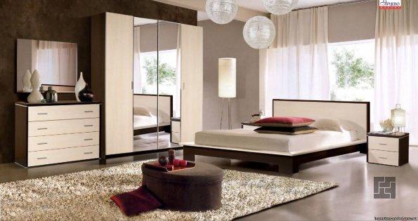Натуральный ковер в спальне