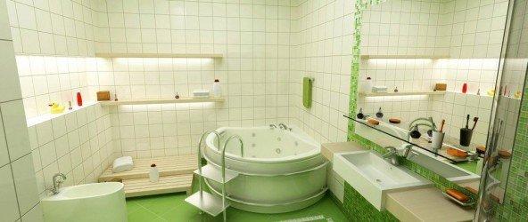 облицовка плиткой ванной комнаты