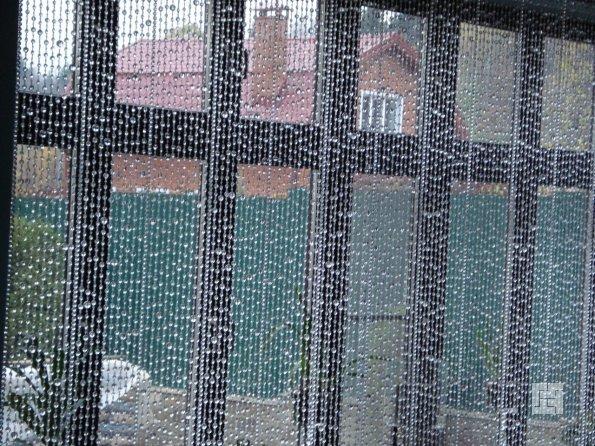 Шторs с бусинами и стеклярусом