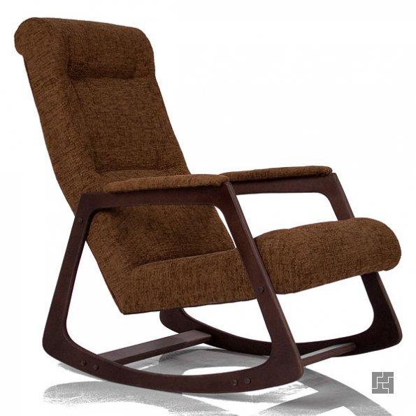 Кресло-качалка, обитое тканью
