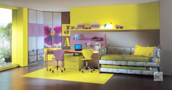 Детская комната в лимонных тонах