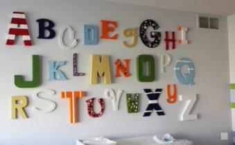 Декор стен буквами и цифрами