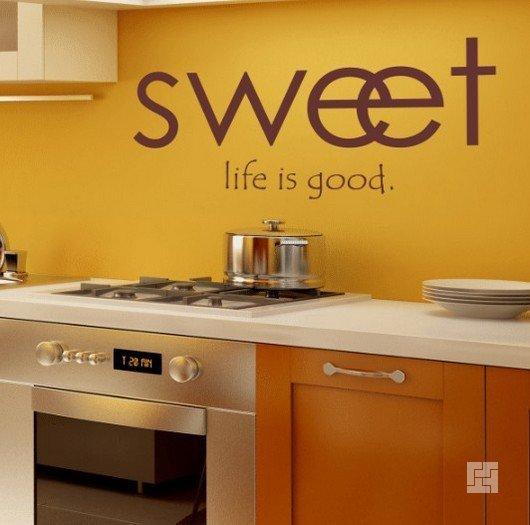 Буквы в кухонном интерьере