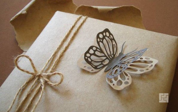 Декоративные бабочки из бумаги