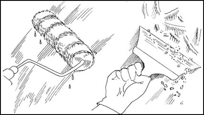 подготовка инструментов для удаления побелки