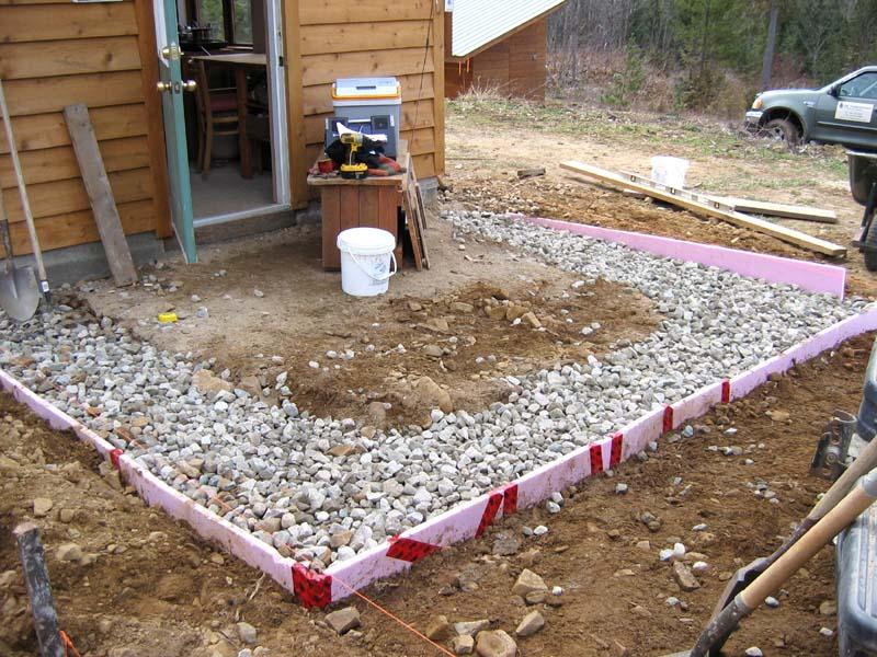 строительство патио с помощью раствора
