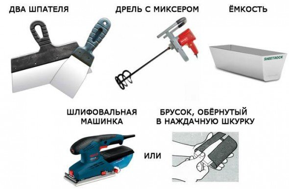 Инструмент для шпаклевания стен