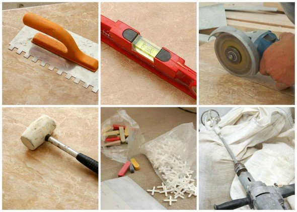 Инструменты для облицовки печи