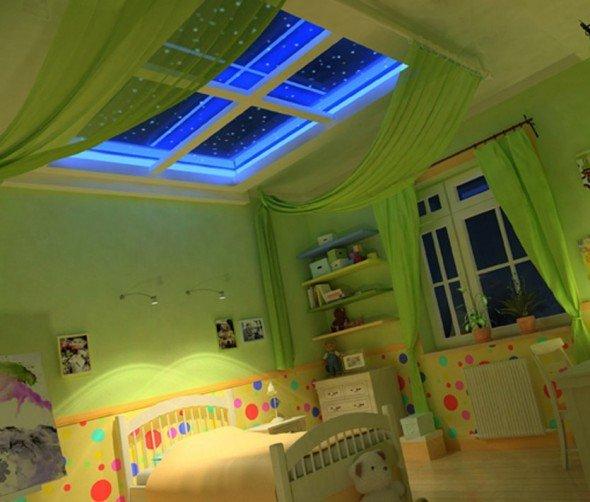 Ложное окно на потолке в детской