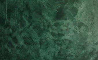 Зелёная венецианская штукатурка