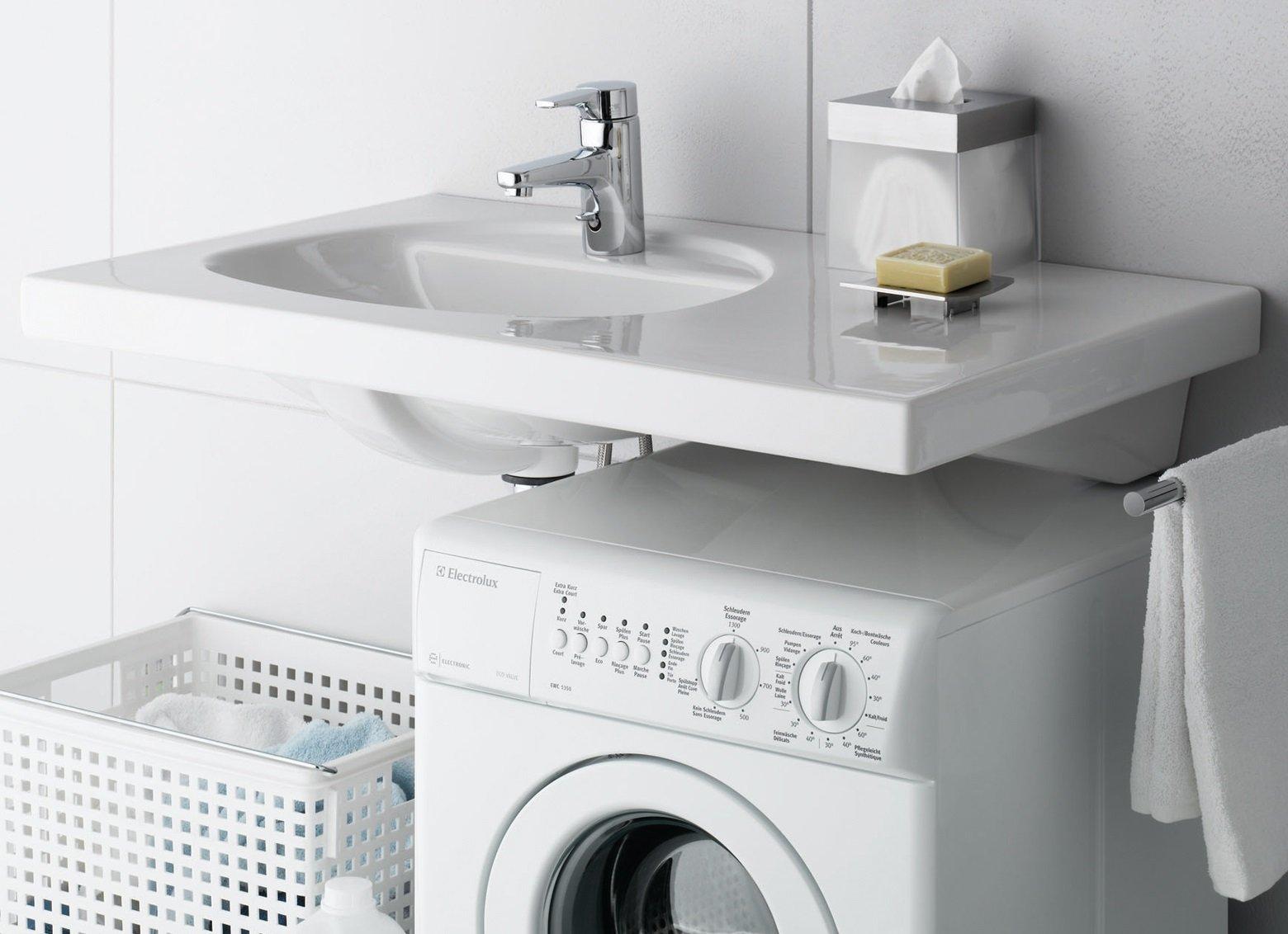 Как установить раковину над стиральной машиной: решаем проблему тесной ванной комнаты