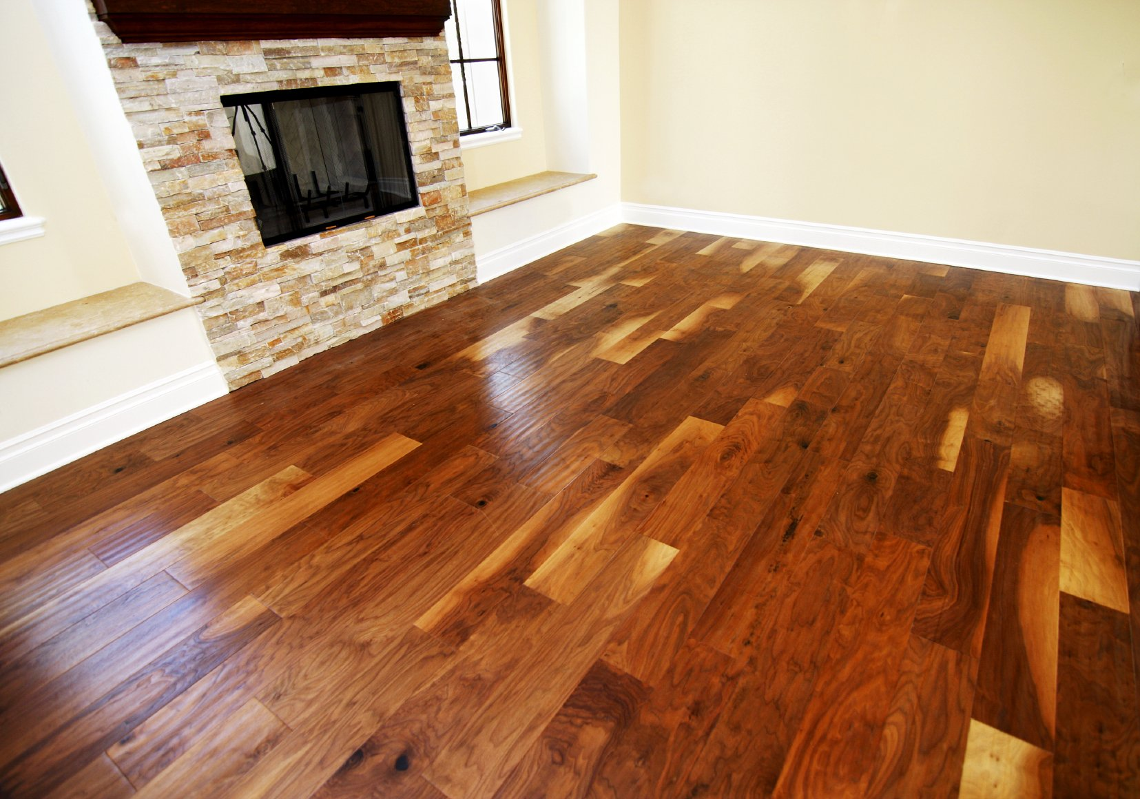 linoleum on  wooden floor