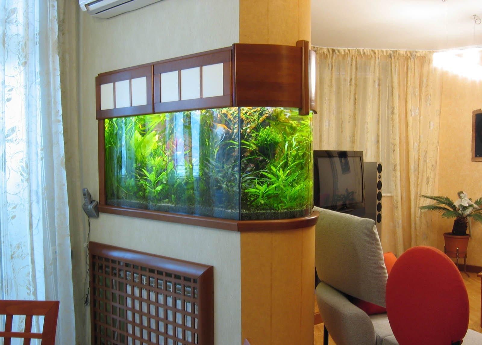 Аквариум в интерьере квартиры (фото)