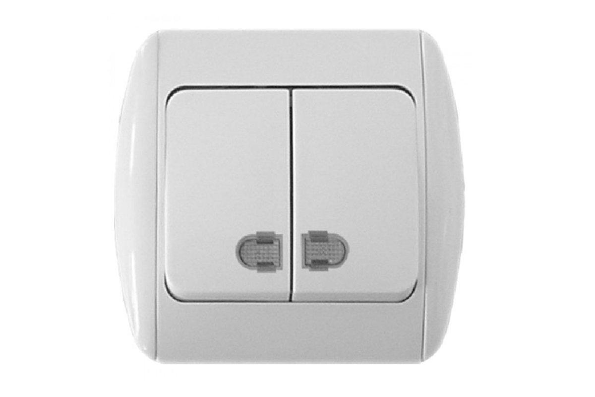 Подключаем двухклавишный выключатель для скрытой проводки