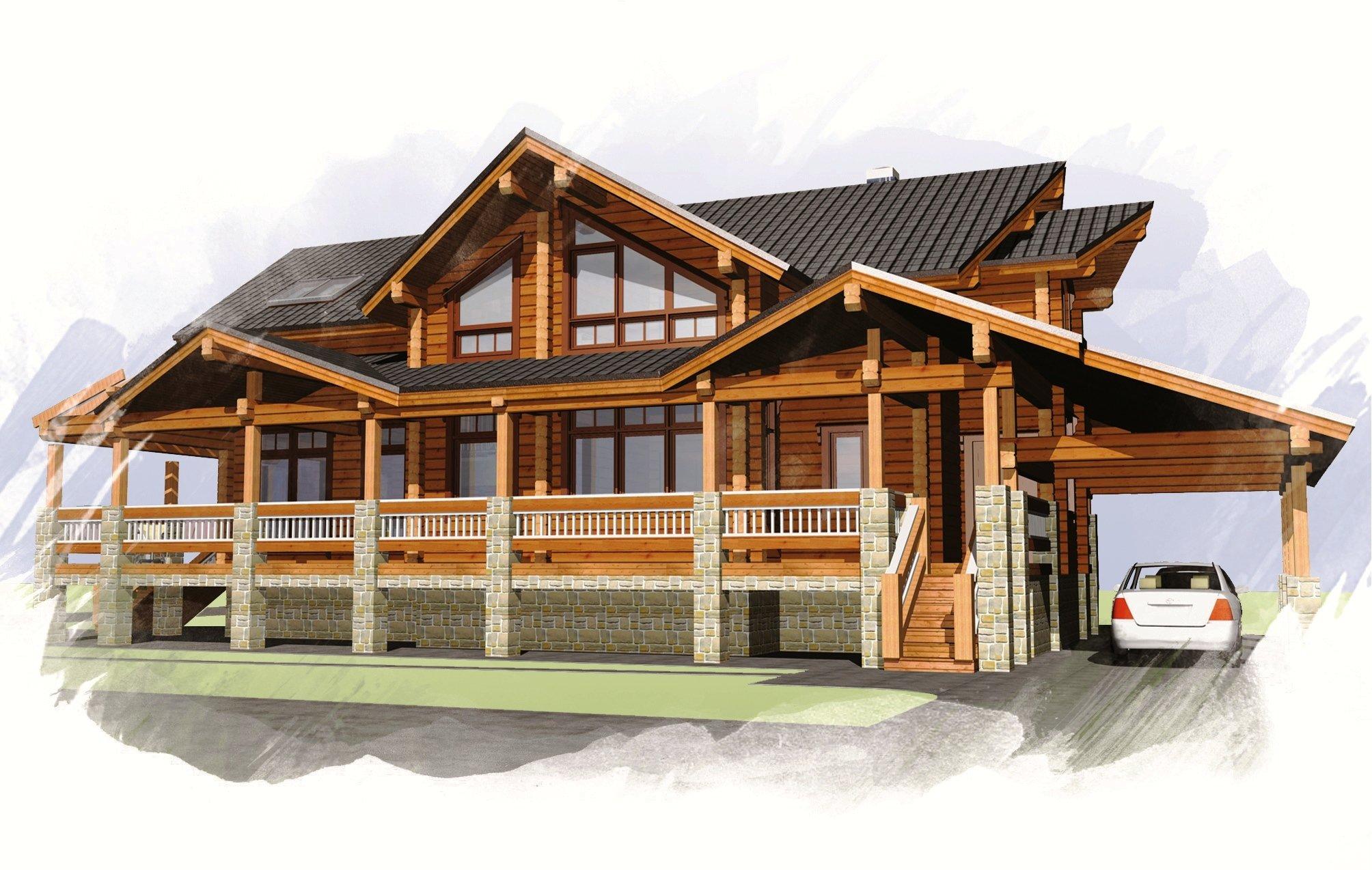 Деревянные дома из бруса: эффектная планировка — только начало!
