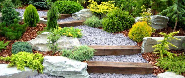 Каменный сад на даче — создаем рельеф