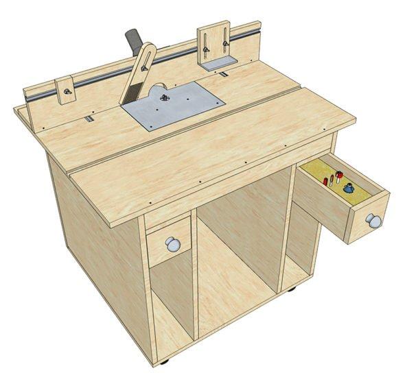 общий вид готового фрезерного стола