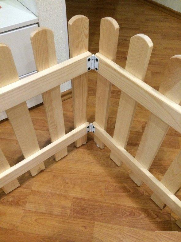 сборка деревянного комнатного вольера