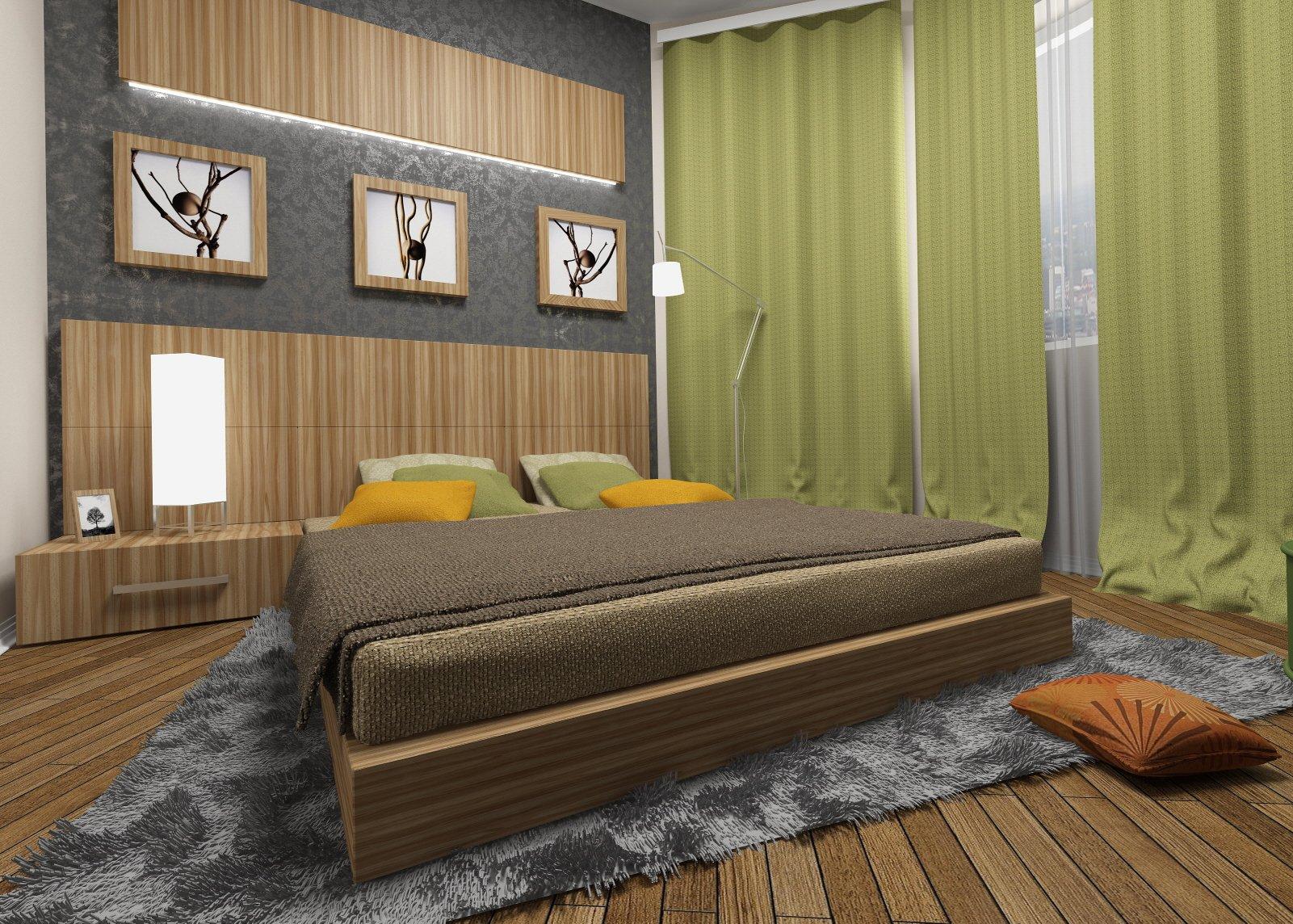 Дизайн интерьера спальни в стиле ЭКО