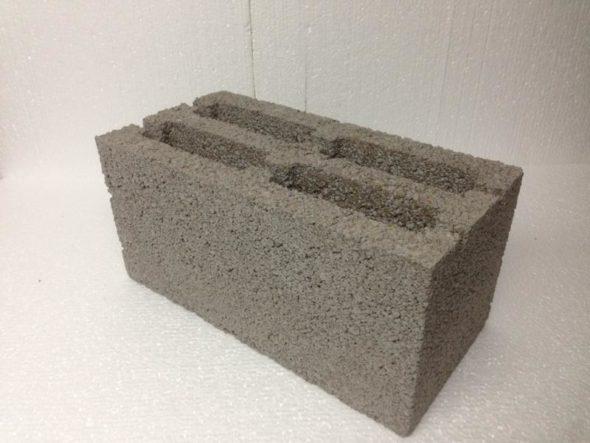 Общий вид керамзитобетонного блока