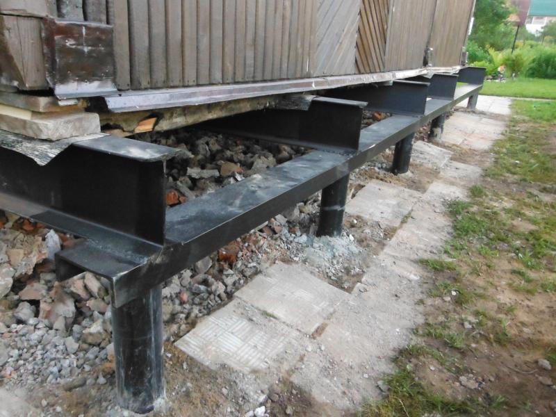 Ремонт фундамента для деревянного дома