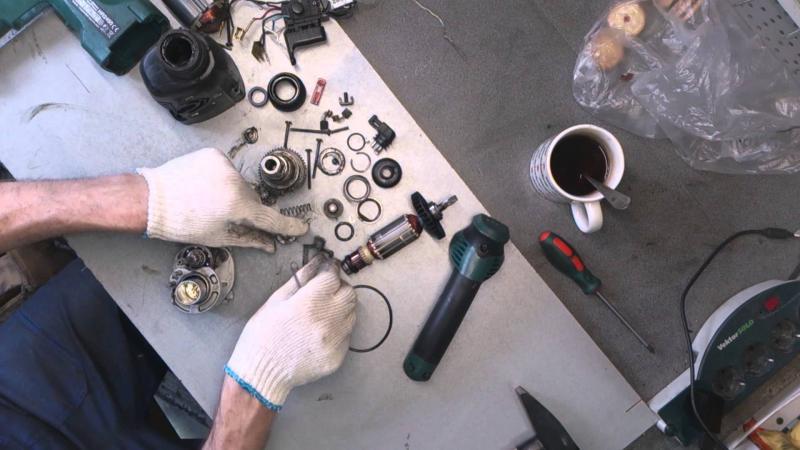 Поиск неисправностей и ремонт болгарки своими руками