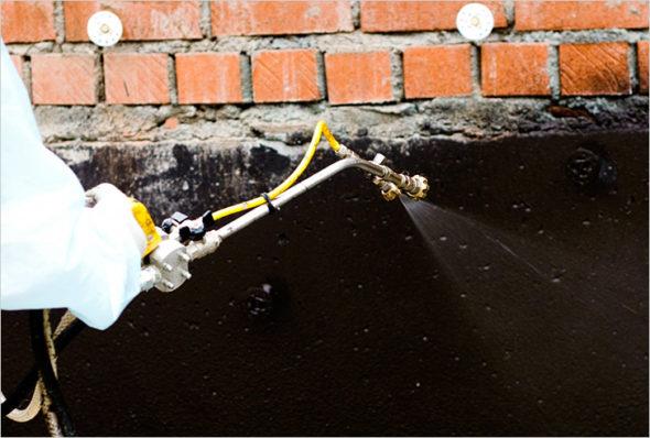 Внутренняя гидроизоляция смотровой ямы