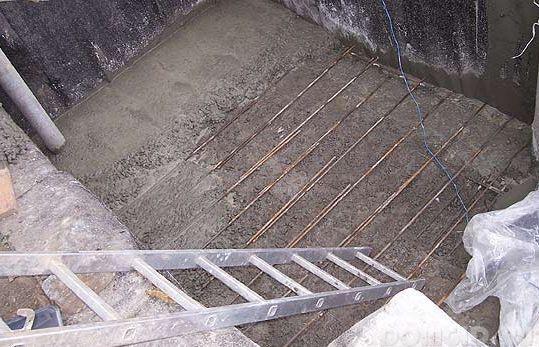 Армирование бетоной стяжки в овощной яме
