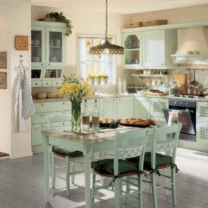 Небольшая кухня во французском стиле