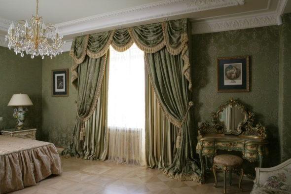 Шторы для спальни во французском стиле