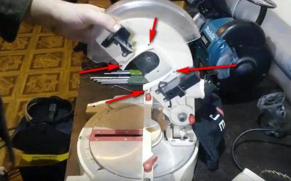 Места крепления двигателя