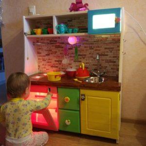 Детская кухня из фанеры