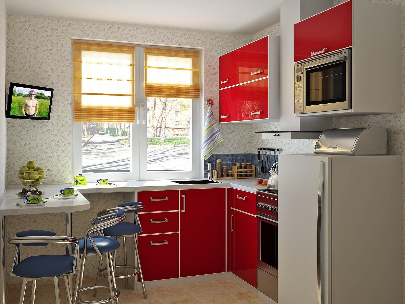 Как обустроить интерьер маленькой кухни