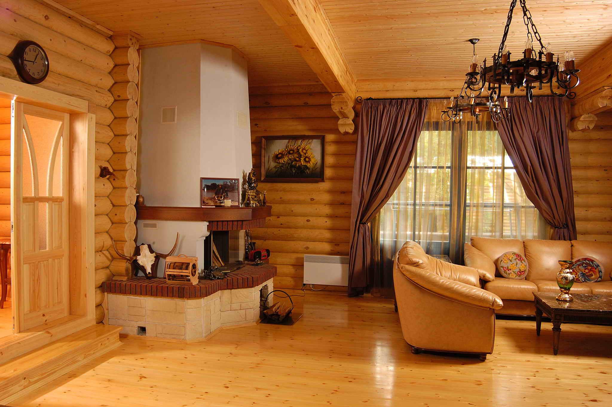 Создание уютного интерьера в деревянном доме