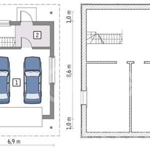 Чертёж гаража на 2 машины