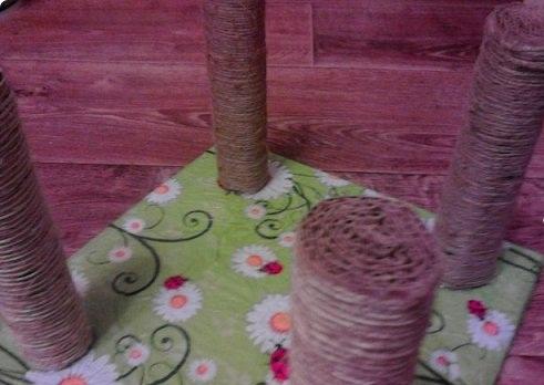 Декорирование опор для мойки