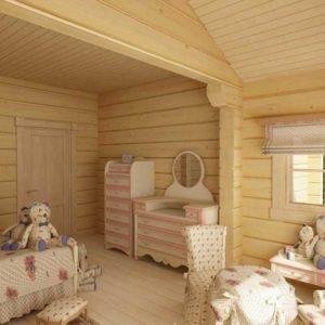 Дизайн-проект детской комнаты в деревянном доме