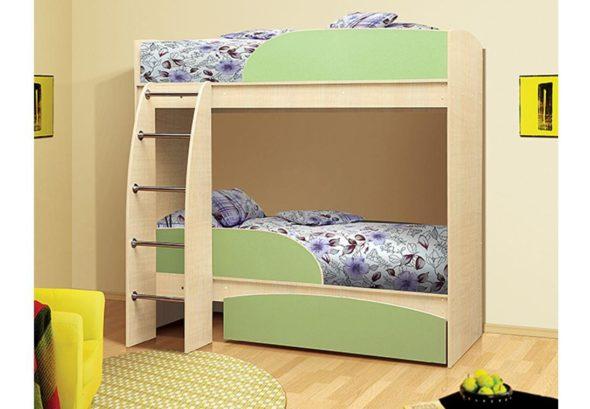 Двухъярусная кровать из МДФ