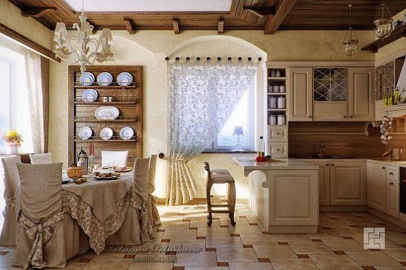 Проект дизайна кухни в прованском стиле