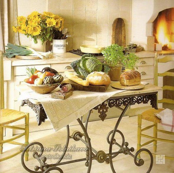 Оформление дизайна кухни в стиле прованс