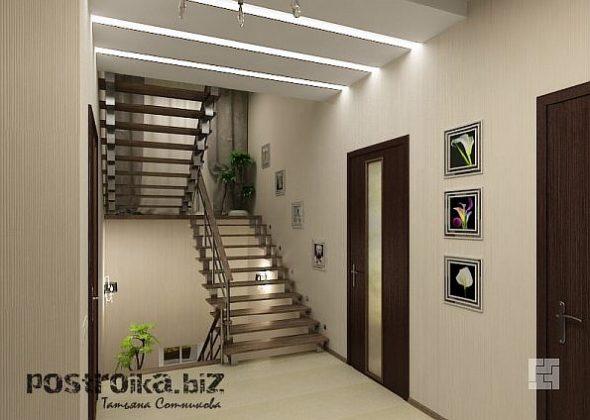Как сделать дизайн холла с лестницей более гармоничным?
