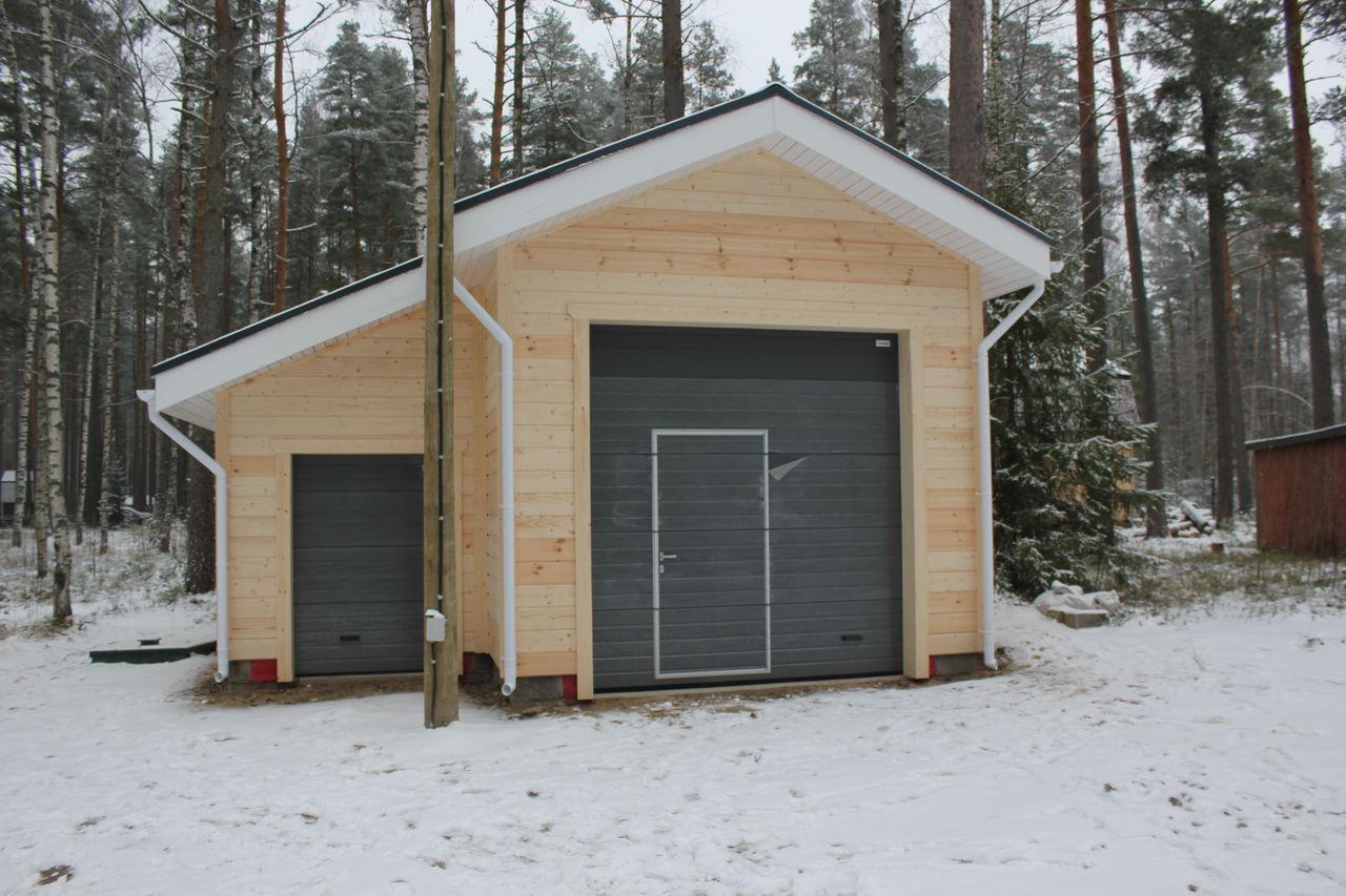 Каркасный гараж своими руками — от фундамента до отделки