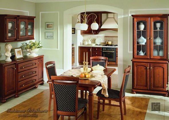 Кухня и столовая зона в стиле кантри
