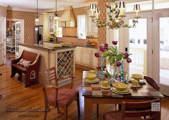 Кухня в стиле кантри прованс