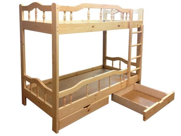 Неразборная двухъярусная кровать