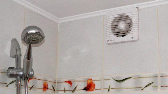 Осевой вентилятор в ванной