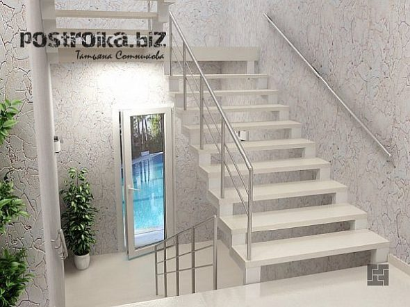 П-образная лестница в доме