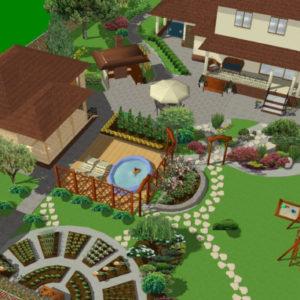 Планировка загородного участка 10–12 соток